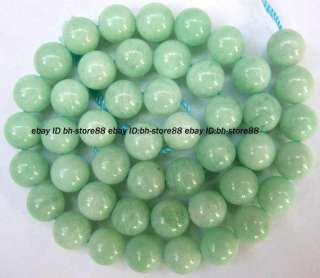 natural green moonstone 9mm Roumnd Gemstone Beads 15