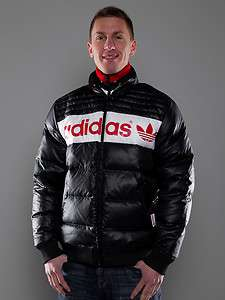 ADIDAS SPO FB Down Jacket Retro Daunenjacke black red white Gr. L