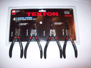 4pc TEKTON SNAP RING PLIERS USE ON INTERNAL & EXTERNAL
