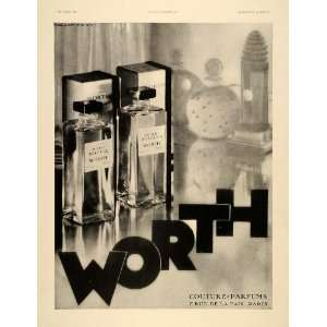 Worth Perfumes Parfum Couture Paris Deco   Original Print Ad Home