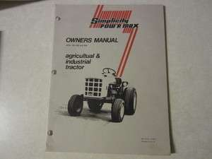 Simplicity 953 954 garden tractor owners & maintenance manual