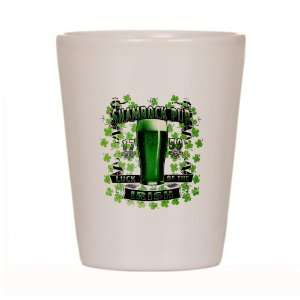 Shot Glass White of Shamrock Pub Luck of the Irish 1759 St