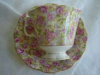 Royal Albert Bone China Pink Rose Chintz Tea Cup Saucer