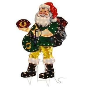 44 NCAA Oregon Santa Claus Lighted Hologram Christmas