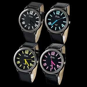 Quartz Mens Mens Ladies Women Sports Wide Face Wrist watch
