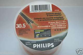 PHILIPS 18 Gauge 100 Ft. Speaker Cable ROLL Copper Wire