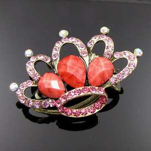 Item , 1pc rhinestone crystal crown hair clamp claw clip