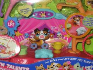 Littlest Pet Shop Retired Tricks N Talent Show Set NIB