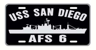 USS SAN DIEGO AFS 6 License Plate Military U S NAVY USN