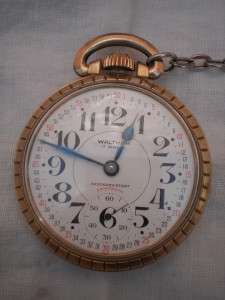 Watch 10K gold plate 17 jewels railroad pocket watch Navy anchor fob