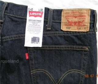LEVIS 559 JEANS Mens Relaxed Straight Fit NWT 42 x 32 039307134811