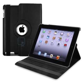 Black 360° Rotating Magnetic PU Leather Case Cover Stand For New iPad