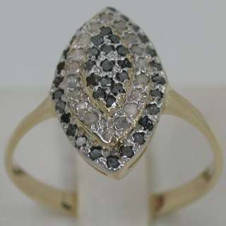 65 CARATS 14K SOLID YELLOW GOLD NATURAL WHITE & BLACK DIAMOND