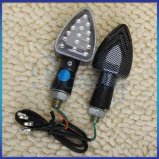 2x Motorcycle Turn Signals Lights LED Indicators Blue
