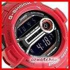 NEW CASIO G SHOCK EXTRA LARGE GD 200 GD 200 4 RED FIBERGLASS BAND HIGH