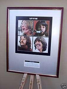BEATLES LET IT BE FRAMED ALBUM COVER SLEEVE ARTWORK