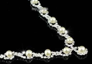 Wedding Ivory / Cream Faux Pearl Necklace Earrings Set S1164