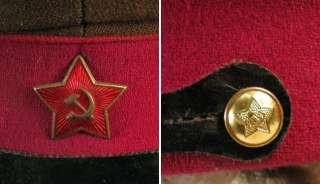 WW2 1937 RUSSIAN RED ARMY INFANTRY UNIFORM VISOR CAP