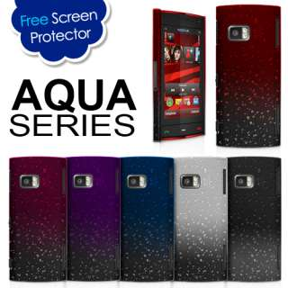 3D RAIN DROP DESIGN HARD CASE COVER For Nokia X6 + Screen Protector