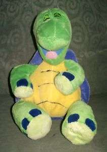 Tickle Toes Makes Laughing Sounds Green Turtle Plush Stuffed Animal