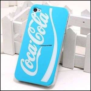 Blue Coca cola Hard Case Cover For iPhone 4 4G