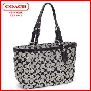 NWT COACH Signature Stripe Demi Shoulder Bag 17439 Brown