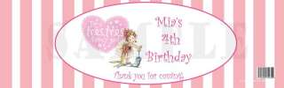 Birthday FANCY NANCY PRINCESS #2 WATER BOTTLE LABELS