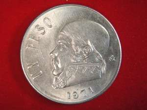 1971 Un Peso 1 Peso Mexico Mexican Coin  COOL #z1