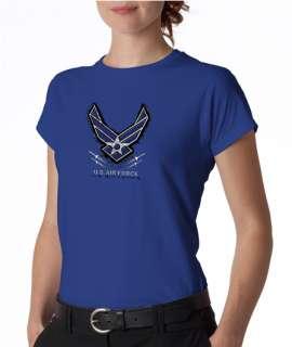 Air force USA Logo Symbol Ladies Tee Shirt