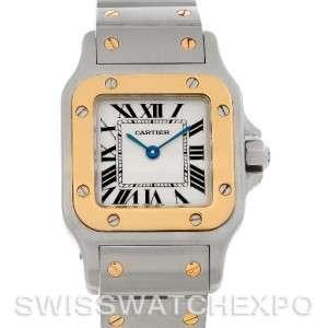 Cartier Santos Ladies Steel 18K Yellow Gold Quartz W20012C4 Watch