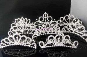 Wholesale 8pcs Bridal Rhinestone Mixed TIARA Crowns