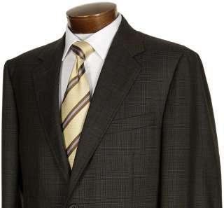 1450 CANALI Olive Glen Plaid Wool Sportcoat 44L Jacket
