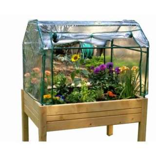 Riverstone 3 ft. x 4 ft. Eden Mini Greenhouse and Enclosed Herb Garden