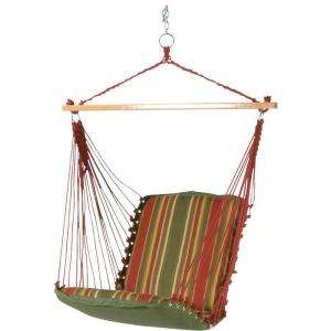 Island DuraCord Cushioned Single Swing Hammock with Spreader Bar