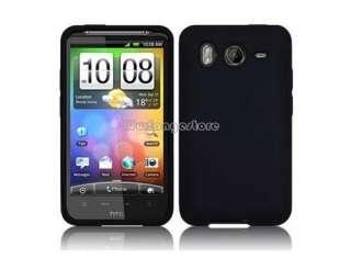 BLACK SOFT SILICONE CASE COVER SKIN FOR HTC DESIRE HD / INSPIRE 4G NEW