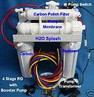 Reverse Osmosis System White 100/150g RO 4 Stage Booster Pump Water