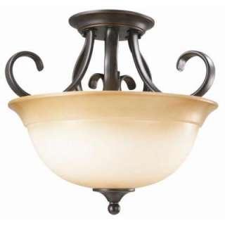 Design House Cameron 2 Light Oil Rubbed Bronze Semi Flush Mount Light