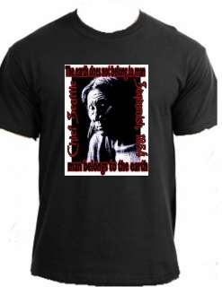CHIEF SEATTLE Native American Indian quote t shirt