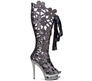 Lady Couture High Heels Ladies Boots Fantastic Black All Sizes