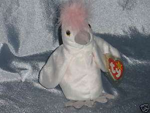 1998 Ty Beanie Baby KuKu Cockatoo Born January 5,1997