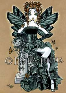 Gothic Couture Butterfly Tattoo Fairy OOAK ACEO Phoebe