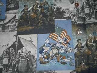 vtg MICKEY MOUSE REVOLUTIONARY WAR DISCO 70S SHIRT M