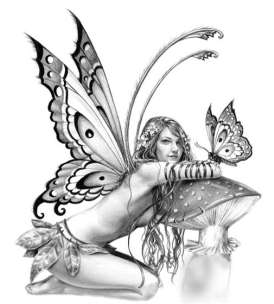 Elfen und Engel Tattoo Vorlagen