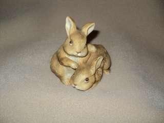 HOMCO Porcelain Baby Bunny Rabbits #1455 Figurine