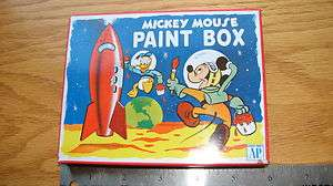 Older Mickey Mouse Paint Box  rocket ship