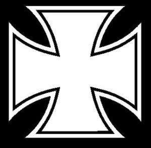 Aufkleber Iron Cross Eisernes Kreuz 20 cm WEIß