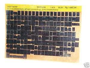 Caterpillar Parts Manual D6D Dozer 6X1115 up Microfiche