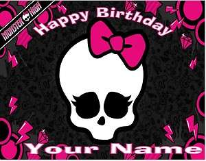 Monster High   Skullette   Edible Photo Cake Topper  $3ship