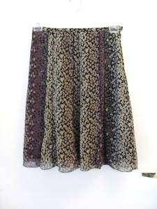 Purple Floral Print Flared Skirt ~ ALLISON TAYLOR ~Sz 6