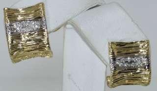 ROBERTO COIN ELEPHANTINO 18 KT. GOLD & DIAMOND EARRINGS